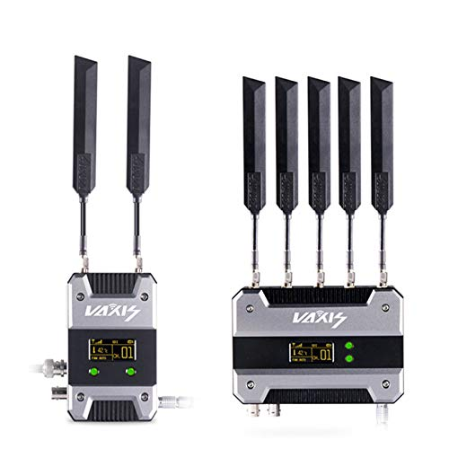 VAXIS Storm 1000FT+ Wireless WHDI Video Transmission System 3G-SDI HDMI Broadcast Video Transmitter & Receiver Compatible with RED Sony DSLR