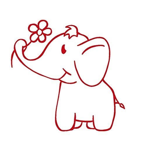 TimeTEX Siebdruck-Stempel Perpetuum rund Elefant