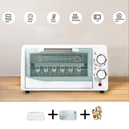 Fruitdroger In De Oven, 60 Minuten Timer 40-230 ° Temperatuuraanpassing Antislipknop, 600W12L Dubbellaags, Explosieveilige Oliebestendige Gehard Glaslaag, Snack Food Manufacturers,White-3