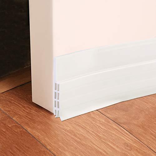 Ruiqas ドア底部シールストリップ ドア テープ 隙間 シリコーンゴム製 ドアストリップ 自己粘着性 窓 ドアのギャップ ドアの裏側 シール 防風 防音 冷暖房効率アップ 省エネ 防虫吸音 (白)