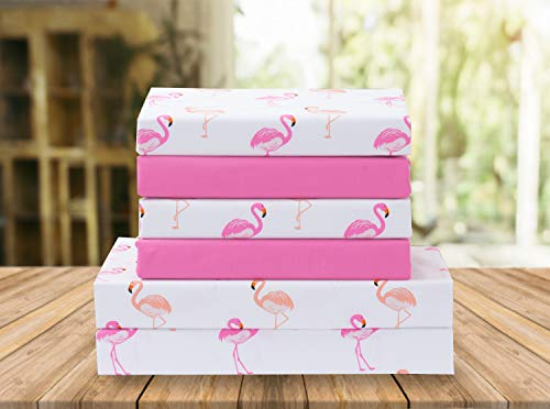Elegant Comfort Luxury Soft Bed Sheets Flamingo Pattern 1500 Thread Count Percale Egyptian Quality Softness Wrinkle and Fade Resistant (4-Piece) Bedding Set, Twin/Twin XL, Flamingo