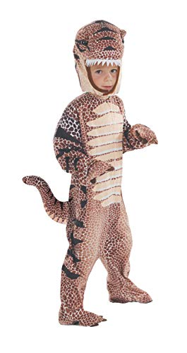 Underwraps Baby Toddler's T-Rex Costume Jumpsuit, Brown, Extra Large (4-6)