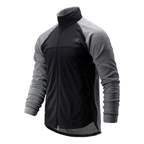 New Balance Men's Fortitech Jacket, Black, X-Large