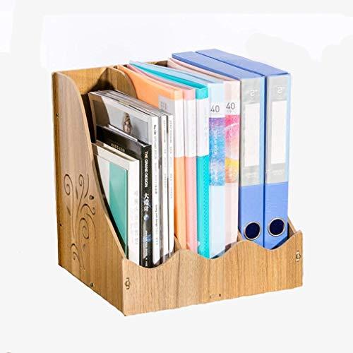LY88 Schrijftafelrek Schrijftafelmand Opbergdoos van hout Kantoorbenodigdheden A4-opbergvak Opbergbak Boekenstaander Ordner Opbergdoos (kleur: # 1)