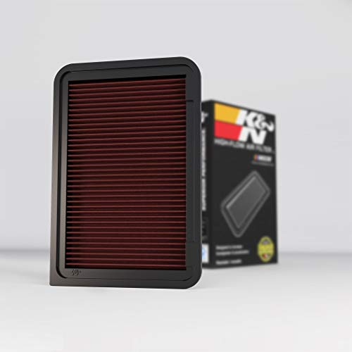 K&N Engine Air Filter: High Performance, Premium, Washable, Replacement Filter: Fits 2006-2017 Toyota/Lexus (Camry, Venza, ES250), 33-2370