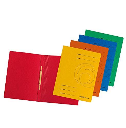 Herlitz 10902971 Schnellhefter 10er farbig sortiert