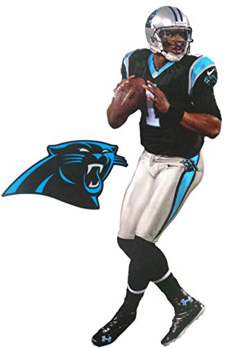 FATHEAD Cam Newton Mini Carolina Panthers Official Vinyl Wall Graphic 7' INCH