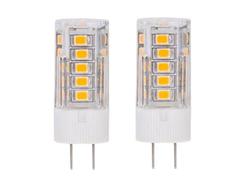 CBConcept 2-Pack, 120 Volt LED GY6.35, 330 Lumens, 3.5 Watt (35W Equal), Warm White 3000K, Not Dimmable, High Voltage AC 120V, G6.35/GY6.35 Base JCD LED Halogen/Xenon/Incandescent Replacement Bulb