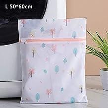 New Zipper Laundry Bag Foldable Mesh Dirty Clothes Socks Washing Bag Useful Bra Underwear Storage Bag (Color : L 50 60cm)