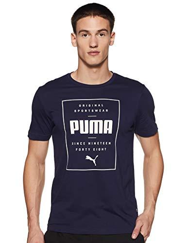 PUMA Box T-Shirt Herren dunkelblau, M (48/50 EU)