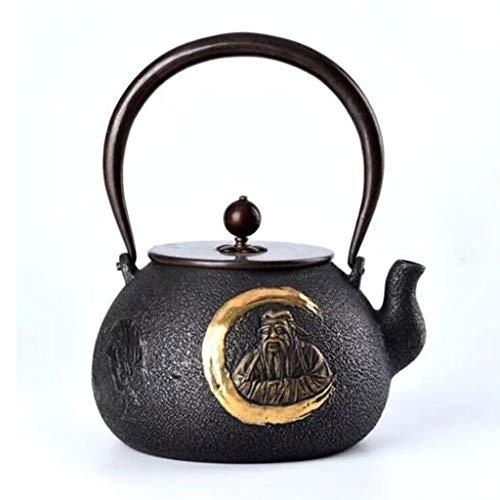 Tea Pot, Japanese Cast Iron Tea Kettle, Vintage Heat Resistant Small Tea Maker for Loose Leaf Tea, for Party Office Home, 1300ml