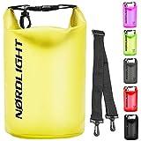 Dry Bag 10L Wasserdichter Beutel - (Gelb) Handytasche Und Strandsafe Dokumententasche Für, Strand, Kanu, Stand Up Paddling, Tauchen