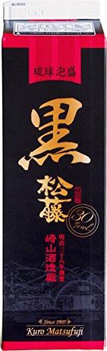 泡盛 黒の松藤 30度 1800ml 紙パック