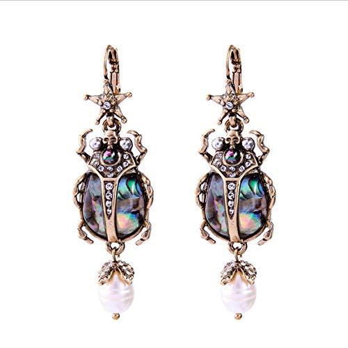 N\A Pendientes de Perlas de imitación Pendientes de Mariquita de Insectos Pendiente de Gota de...