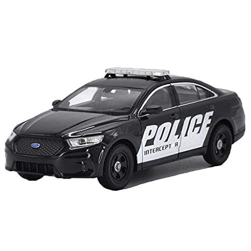 min min Car Model 1:24 / Compatible with Ford Taurus/Police Car American Road Patrol Car Simulation Alloy Car Model Ornaments (Color : Black) (Color : Black)