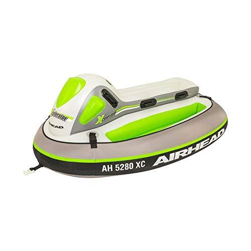 Airhead XCELERATOR, 2 Rider Towable Tube, White Green Gray