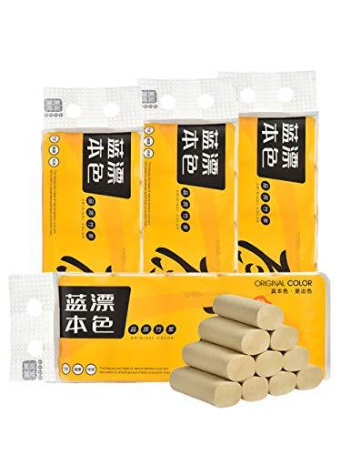 CHENYAO Huishoudelijke Bamboevezel Toiletpapier Bamboe Pulp Puree Kernloze Rol Papier Zacht Toiletpapier Betaalbaar (48 Rollen)