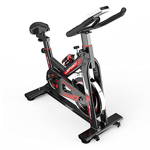 GJXJY Cyclette Spinning Magnetica con Cardiofrequenzimetro Schermo Cuscino del Sedile e Portabottiglie Bicicletta Verticale per Interni per Allenamento in Palestra, Carico Massimo 150 Kg/330 Libbre