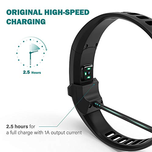 TUSITA Charger for Garmin Vivosmart HR HR+ Approach X40 - USB Charging Cable 100cm - GPS Activity Tracker Accessories (1-Pack)
