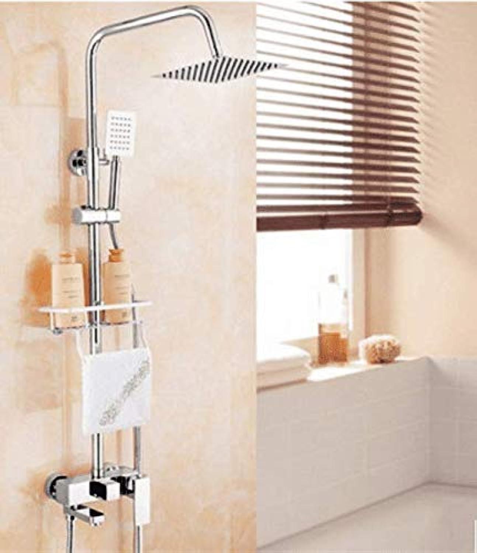 GFF Duschbad Versilberung Duschset Messing BadheBesteange Polierduschstrahlset Wanne Duschmischbatterie
