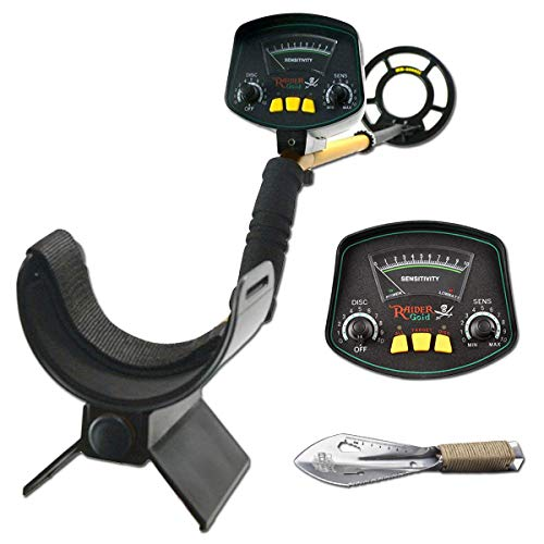 JunHo Lightweight Gold Digger Metal Detector,Professional Adjustable Gold Treasure Detectors,Waterproof High Accuracy Search Coil,Within 8 Inches Adjustable Metal Detector