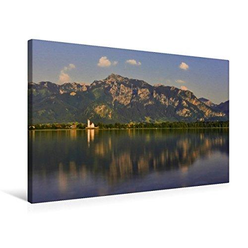 CALVENDO Premium Textil-Leinwand 75 x 50 cm Quer-Format Forggensee, Waltenhofen, Neuschwanstein und Tegelberg, Leinwanddruck von Marcel Wenk