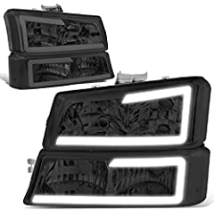 Plug-n-Play Operation Direct Bolt-On OE Fitment or Replacement for the Stock Unit Comes with a Complete Set of Headlight and Bumper Turn Signal Lights LED Day Time Running Light Bars ( Require Wiring into Existing Lighting) Fits Models with Halogen H...