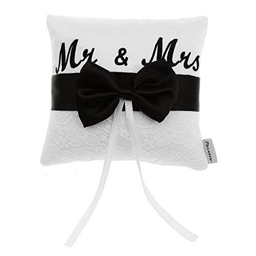 Mr & Mrs Porte Ringkissen, für Hochzeit, 15°cm