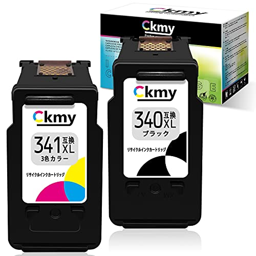 【CKMY】BC-340xl BC-341xl Canon(キヤノン)対応 リサイクル インクカートリッジ 340xl[ブラック]+341xl[3色カラー] 2個セット 大容量 ICチップ付き 再生インク 残量検知 『対応プリンタ:PIXUS TS5130 MG3630 MG3530 MG3230 MG4230 MG2130 MG3130 MG4130 MX513 MX523』