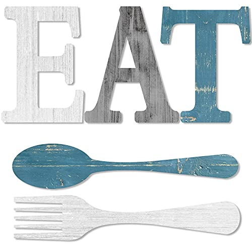 Set of EAT Sign, Fork and Spoon Wall Decor