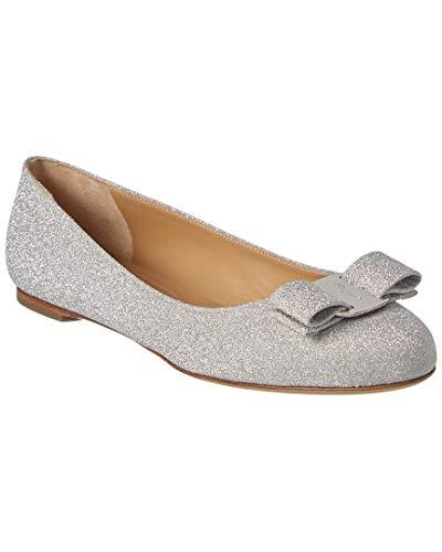 Salvatore Ferragamo Varina Glittered Ballerinas Woman Silver 38 IT