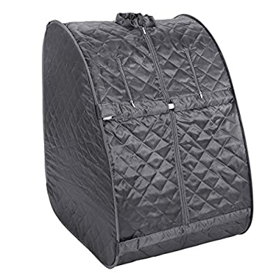 Portable Steam Sauna Spa,2L Personal Therapy Sauna Tent for Weight Loss,Detox and Relaxation Through Chair, Remote Control, Steam Pot,Pillbox