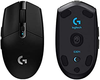 Logitech G304 Lightspeed Wireless Gaming Mouse, Hero Sensor, 12,000 DPI, Lightweight, 6 Programmable Buttons, 250h Battery...