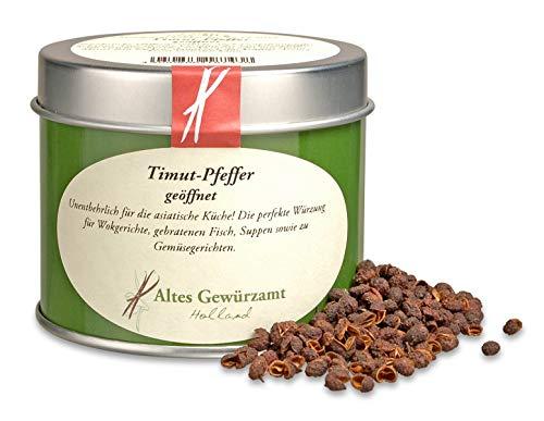 Altes Gewürzamt Timut Pfeffer geöffnet Szechuanpfeffer Nepal 50 g - Ingo Holland