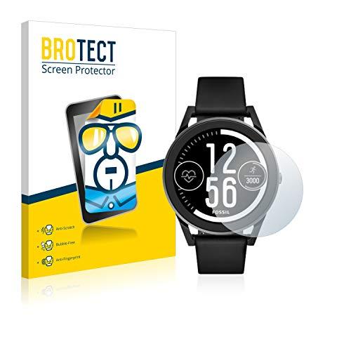 BROTECT Schutzfolie kompatibel mit Fossil Q Control (3.Gen) (2 Stück) klare Bildschirmschutz-Folie