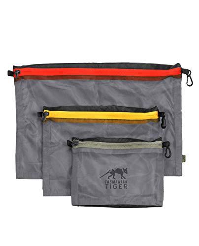 Tasmanian Tiger TT Mesh Pocket Set Black Edition Rucksack Organizer Zusatztaschen in 3 Größen Schwarz
