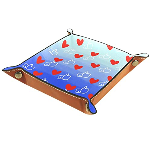 Hearts Likes Catchall - Bandeja para llaves, teléfono, moneda, cartera, relojes, etc