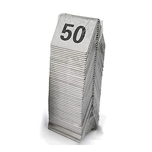 ZZYEUIO Tarjetas de número de Tabla de Tiendas de Acero Inoxidable, 1-25/1-50/1-100 Números de Mesa de Asientos 1.9 × 1.6in / 5 × 4cm, para Restaurante/cafetería/Bar/Suministros de Fiesta de Cumplea