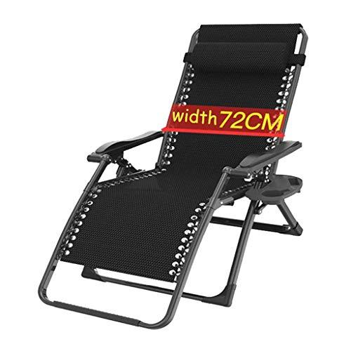 AWJ Silla de Gran tamaño de 72 cm de Gravedad Cero, Silla de Piscina Plegable para Patio con reposacabezas, sillón reclinable Transpirable y cómodo, Soporte de 300 Libra