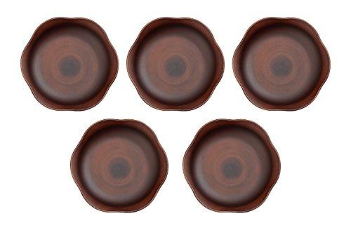 ハウスホールド 木製風 食器 SEE 花 プレート 皿 S 15cm ダーク ブラウン 5枚 セット 専用 ナチュラルボックス 入り 食洗機対応 電子レンジ対応 ランチプレート 電子レンジ プラスチック 軽量 角 こども ランチ皿 子供 食洗機 ベビー 日本製 おしゃれ 子ども プレート 皿 ワンプレート ごはん ワンプレートごはん アウトドア 山中塗り 木 木目 木目調 ウッド ウッディ WOODY WOOD 和食器 洋食器 給食 食器 国産 漆器 山中塗 山中漆器 House Hold Household 宮本産業