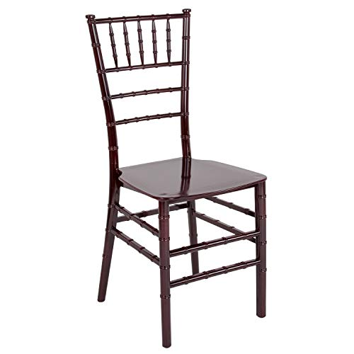 Flash Furniture HERCULES Series Mahogany Resin Stacking Chiavari Chair