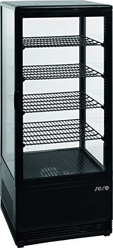 écran en verre Vitrine réfrigérante Saro SC 100 L Noir