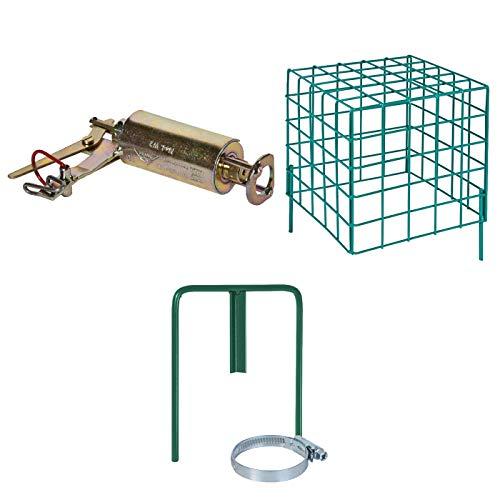 VOSS.farming Kieferle Wühlmausschussfalle Selbstschusshalter, Sicherheitskorb, Wühlmausfalle, Schussfalle, Wühlmausselbstschussfalle, sicherer Schutz vor Wühlmäusen