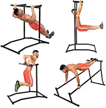 Pull Up & Muscle Up Rack, Free Standing Dip Station, Portable Power Tower Home Gym Equipment, Storage Bag