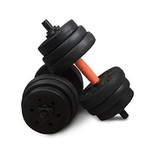 WFS Pesas Gimnasio Ajustable Pesas Conjunto Antideslizante Acolchada Diseño de Formación Entrenamiento Fuerza Sólida Y Configurable Musculación (Peso : 10Kg(5kg*2))