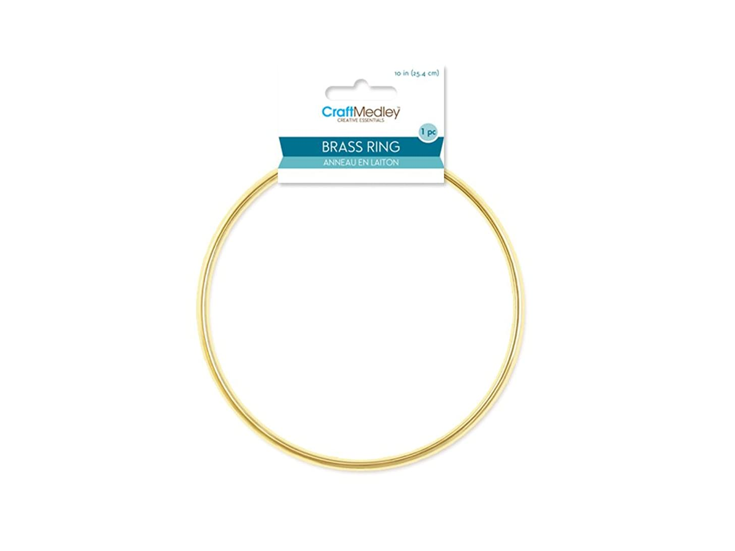 CraftMedley Brass Rings, 10in, Round, 1-Piece, 10