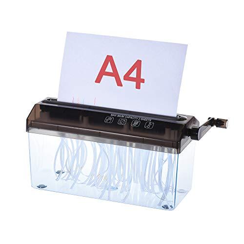 """Aibecy A4 9\"""" Destructora maual de papel y documentos , herramienta de corte recto para la oficina, escuela o uso domstico, color negro"""