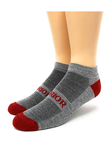 Warrior Alpaka-Socken – Alpakawolle All Terrain Knöchel Sport Socken | Frottee-gefüttertes Fußbett | bequem & warm | Damen & Herren -  Grau -  Medium