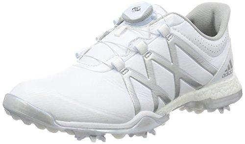 adidas adidas W Adipower Boost Boa Golf Schuhe, Damen, Damen, W Adipower Boost Boa, Weiß/silberfarben, 37.3