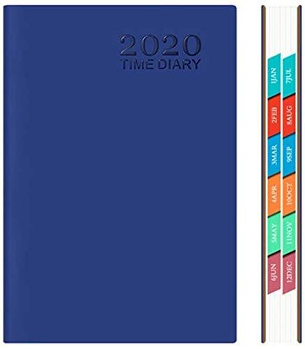 2020 Planner diario semanal mensual con marcada Tabs A5 Horario Cuadernos for el hogar escuela de la oficina de San Valentín Día del regalo de cumpleaños dljyy